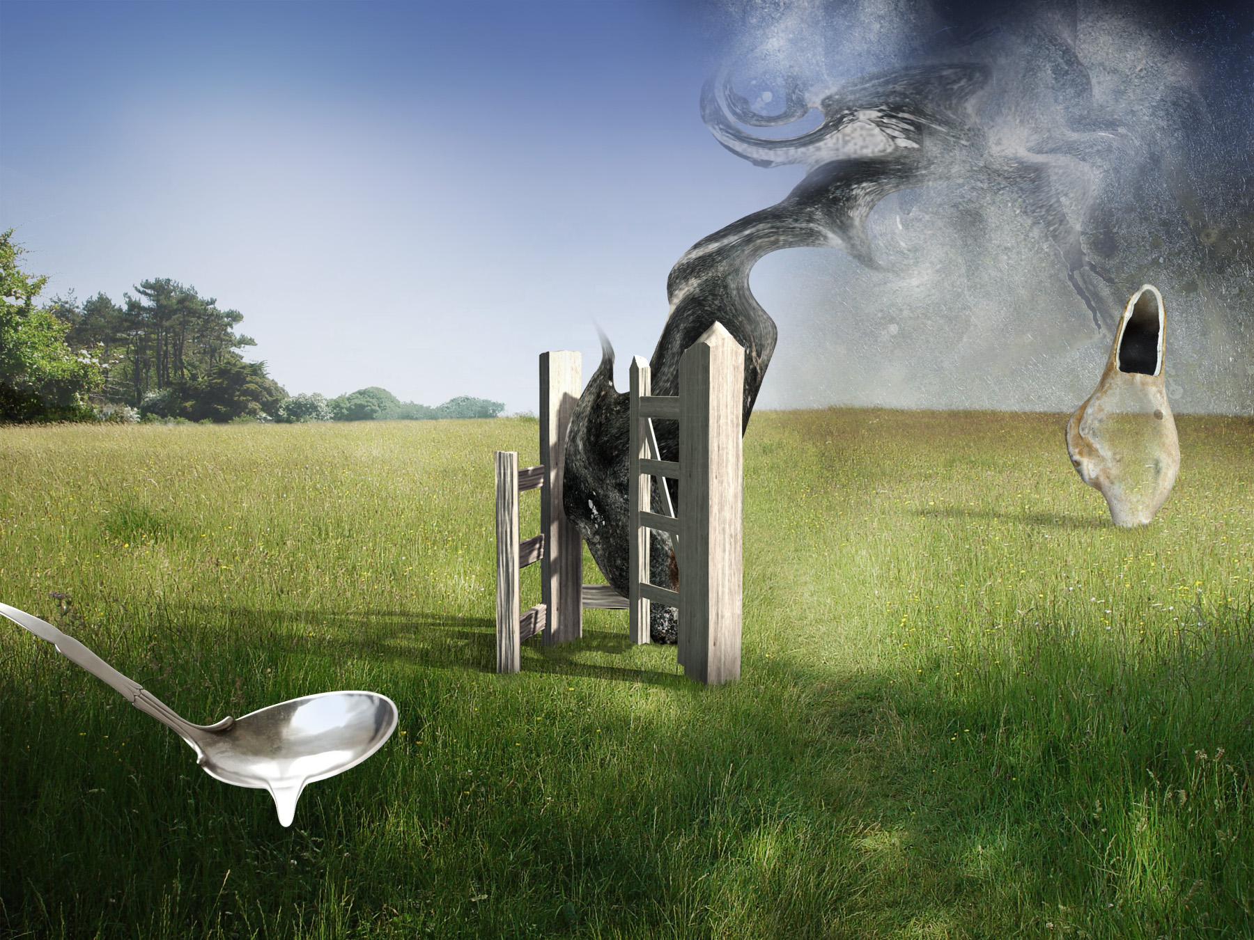 the gate, surreal landscape by Shannon Ribbons